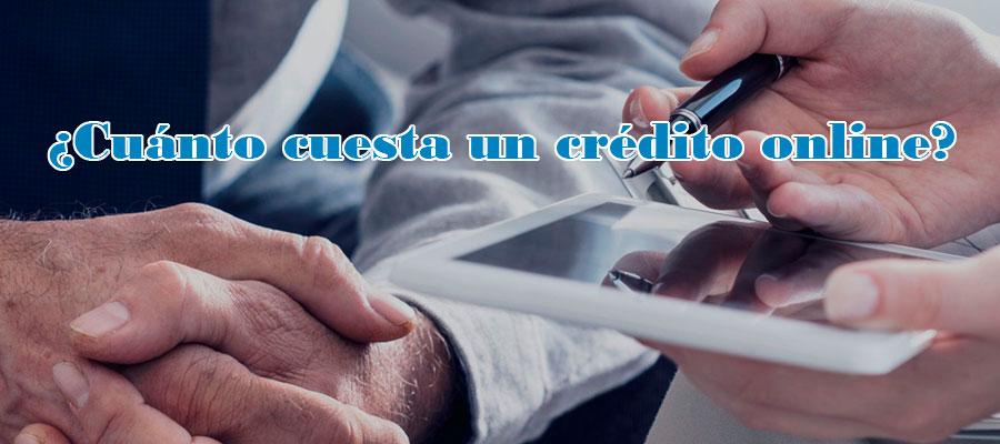 Cuánto cuesta un crédito online